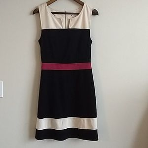 41 Hawthorn black pink and cream work dress size4